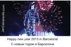 new year 2014 in Barcelona